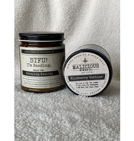Malicious Woman Candle Co. STFU! I'm Reading | Blueberry Cobbler | 9 oz. candle