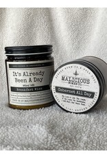 """Malicious Woman Candle Co. It's Already Been A Day   Infused With """" Breakfast Wine""""   Scent: Cabernet All Day"""