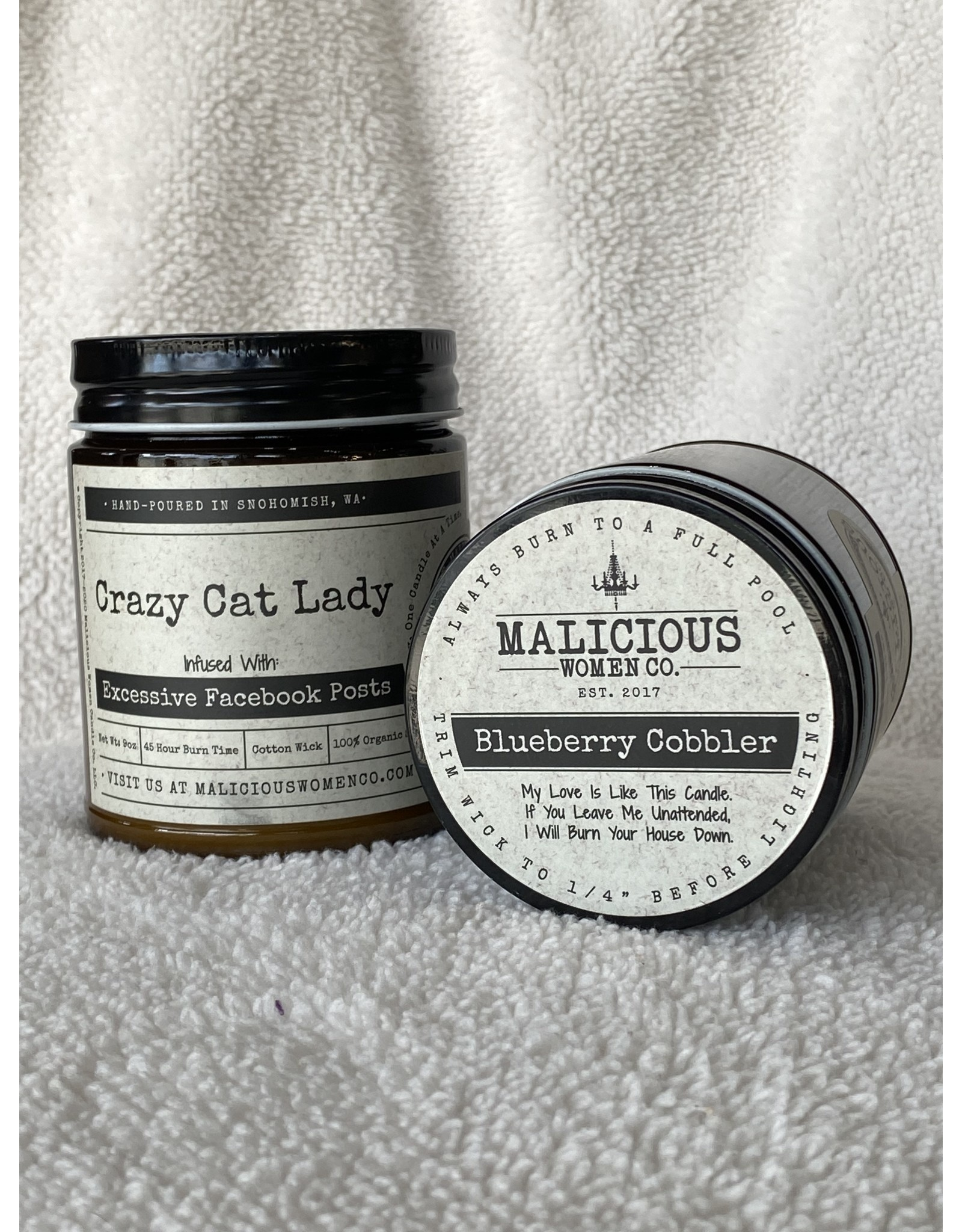 """Malicious Woman Candle Co. Crazy Cat Lady 