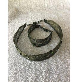 Braided Jewel Wire Choker & Cuff