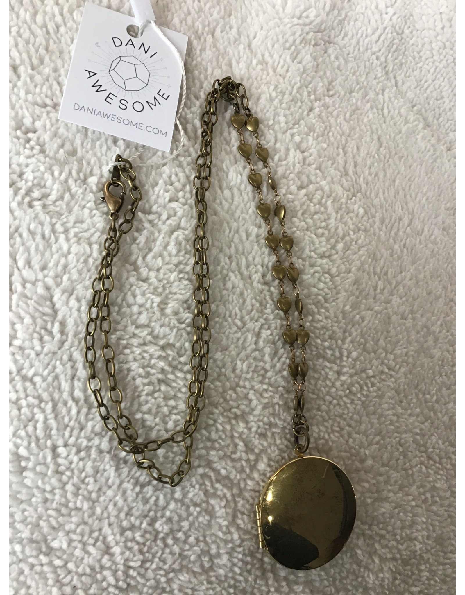 Brass Locket Necklace