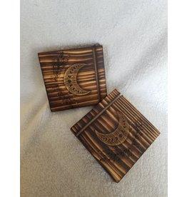 Todd Vonstein Moon Face Mediation Wooden Card Holder