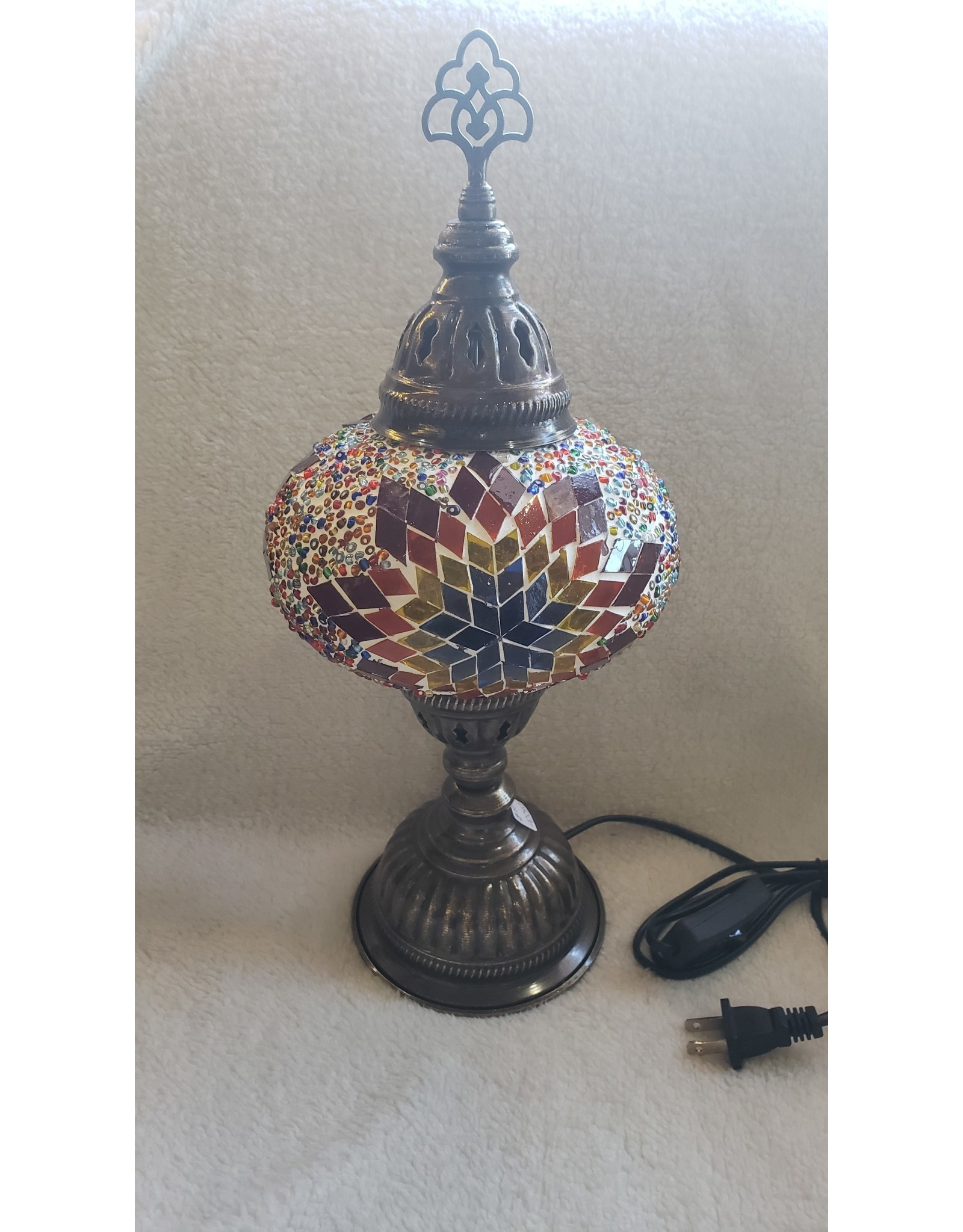 """Turkish Mosaic Table Lamp 6""""x14.5""""   Assorted Color"""