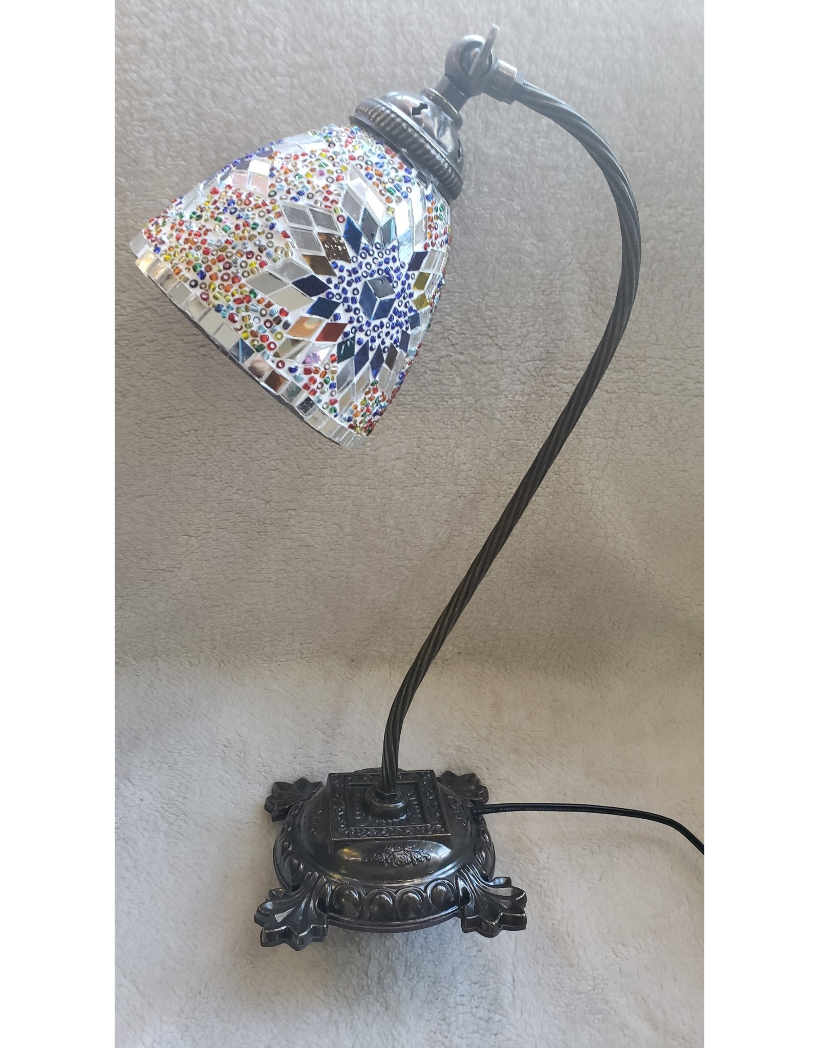 Turkish Mosaic Lamp   Adjustable Table   Assorted Color