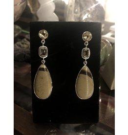 Sanchi and Filia P Designs Septarian, Lemon Quartz & Smoky Quartz Earrings