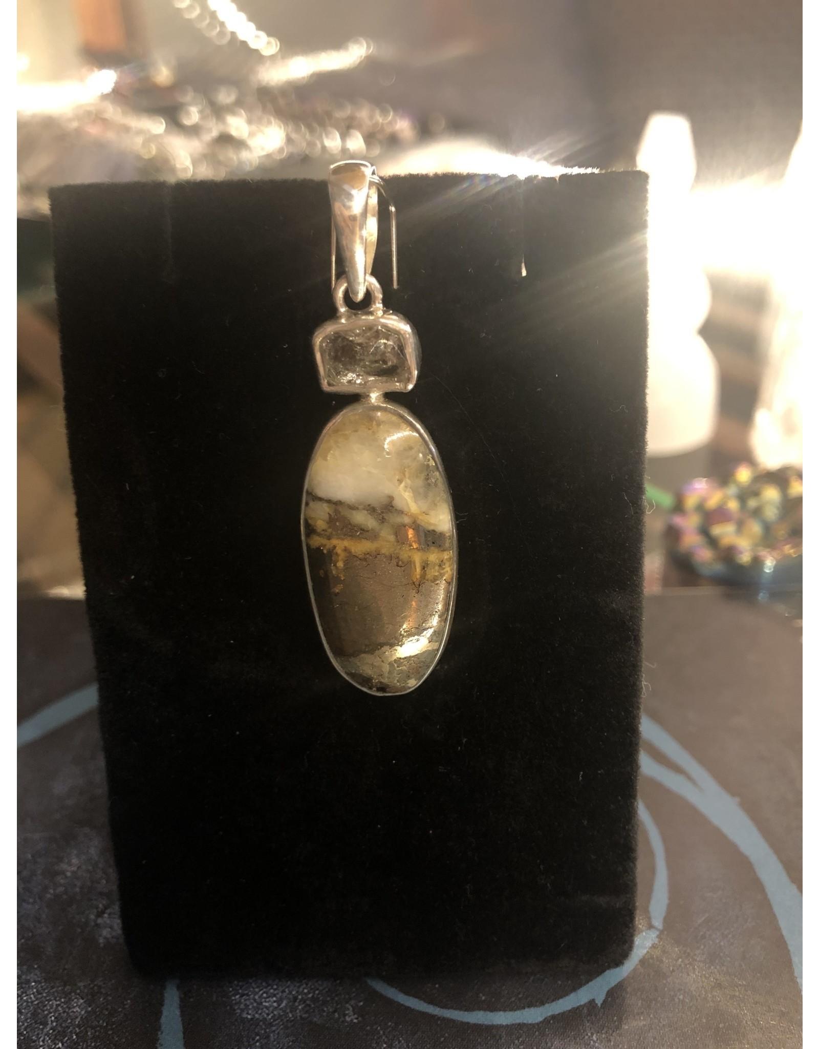 Sanchi and Filia P Designs Ice Pyrite & Herkimar Diamond