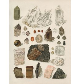 "Capricorn Press Antique Gem and Crystal Rock Art Print - 16""x20"""