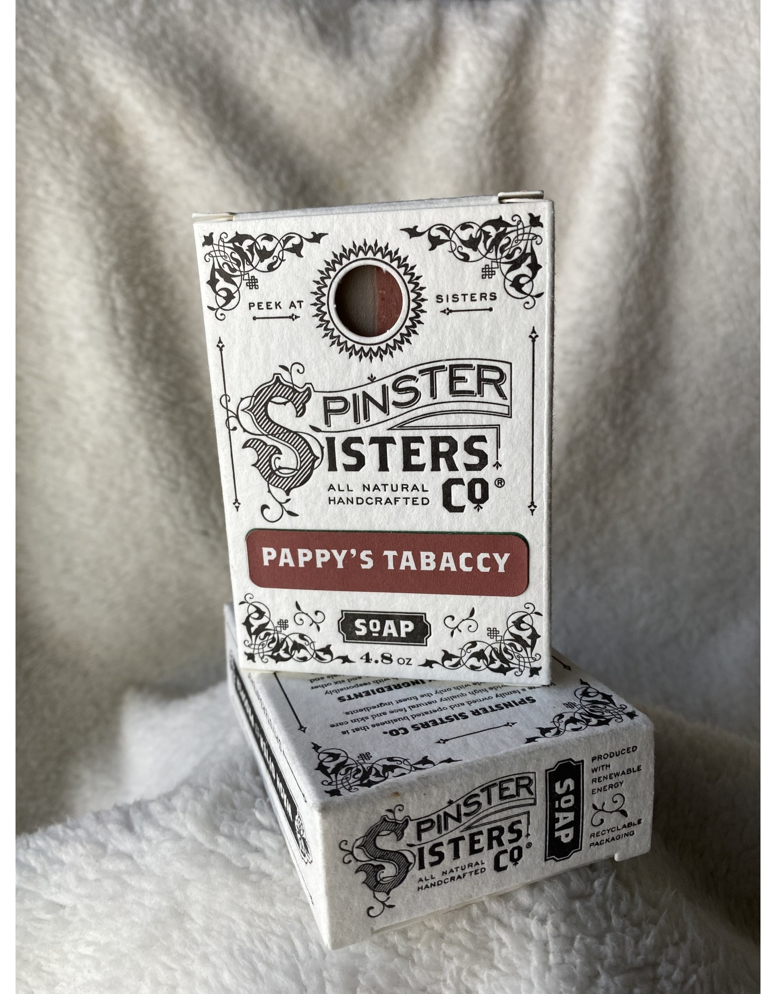 Spinster Sisters Co. 4.8 oz. Soap Bar   Pappy's Tabaccy