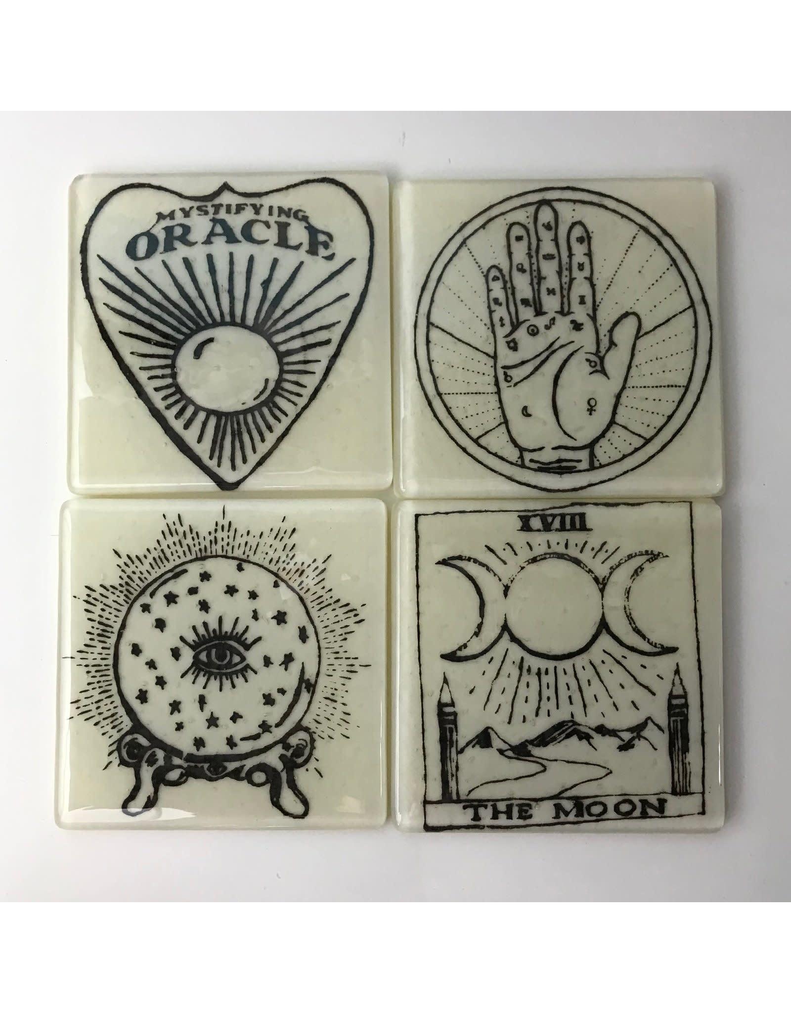 Kiku Handmade Witchy Coasters - Set of 4