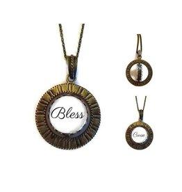 Unique Art Pendants Blass/Curse Brass Spinner Necklace