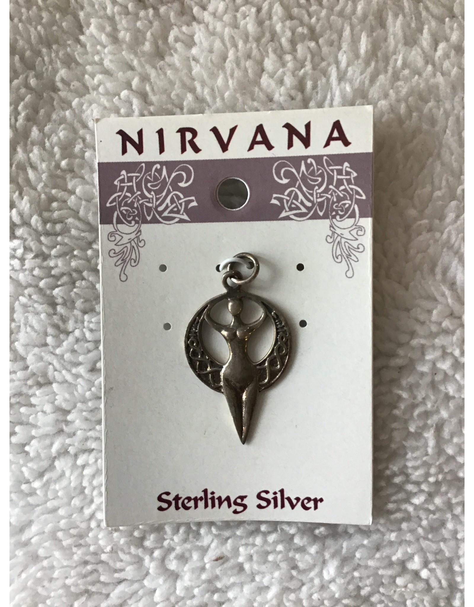 Moon Goddess Sterling Silver Pendant