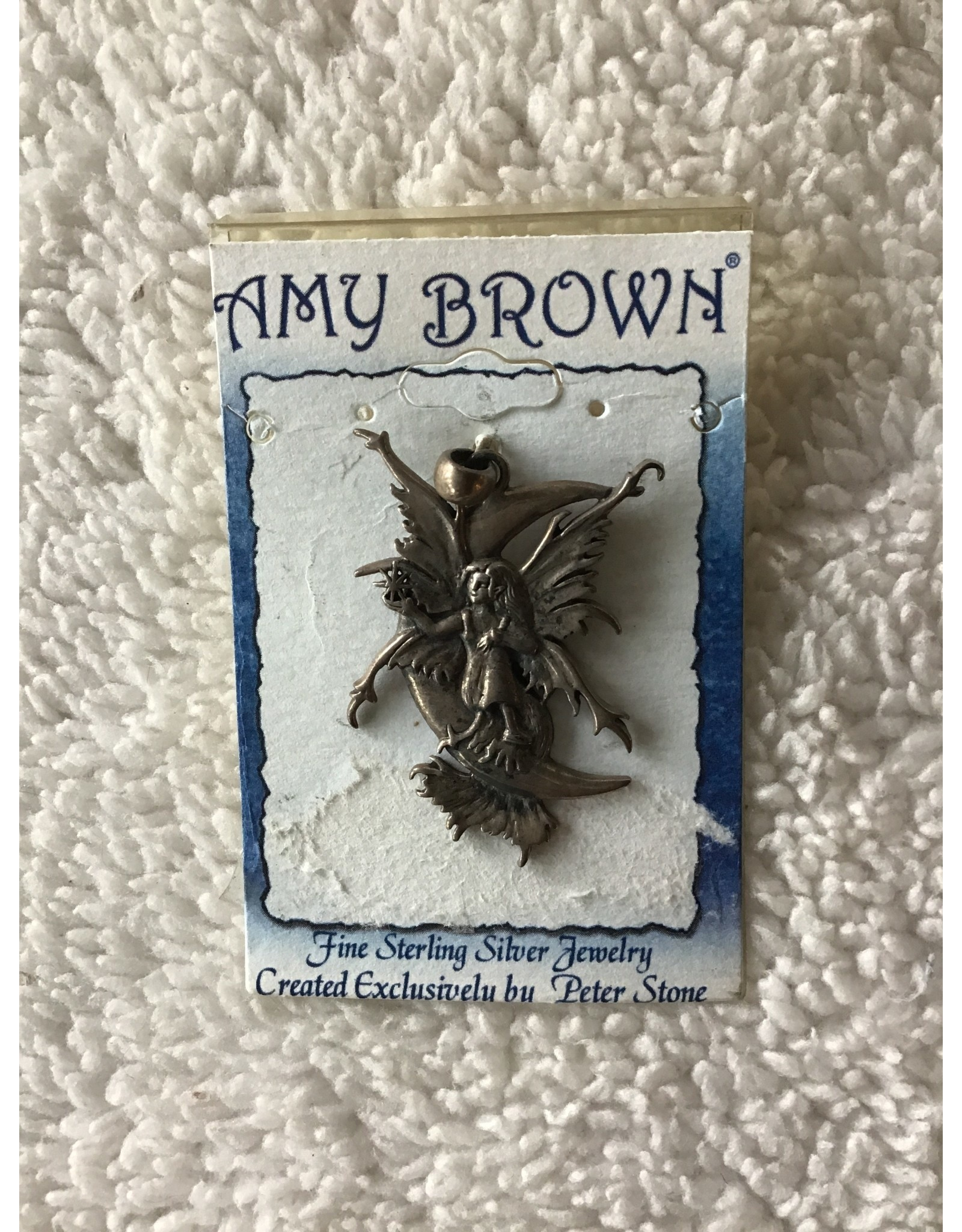 Amy Brown Stargazer Fairy With Moon Pendant