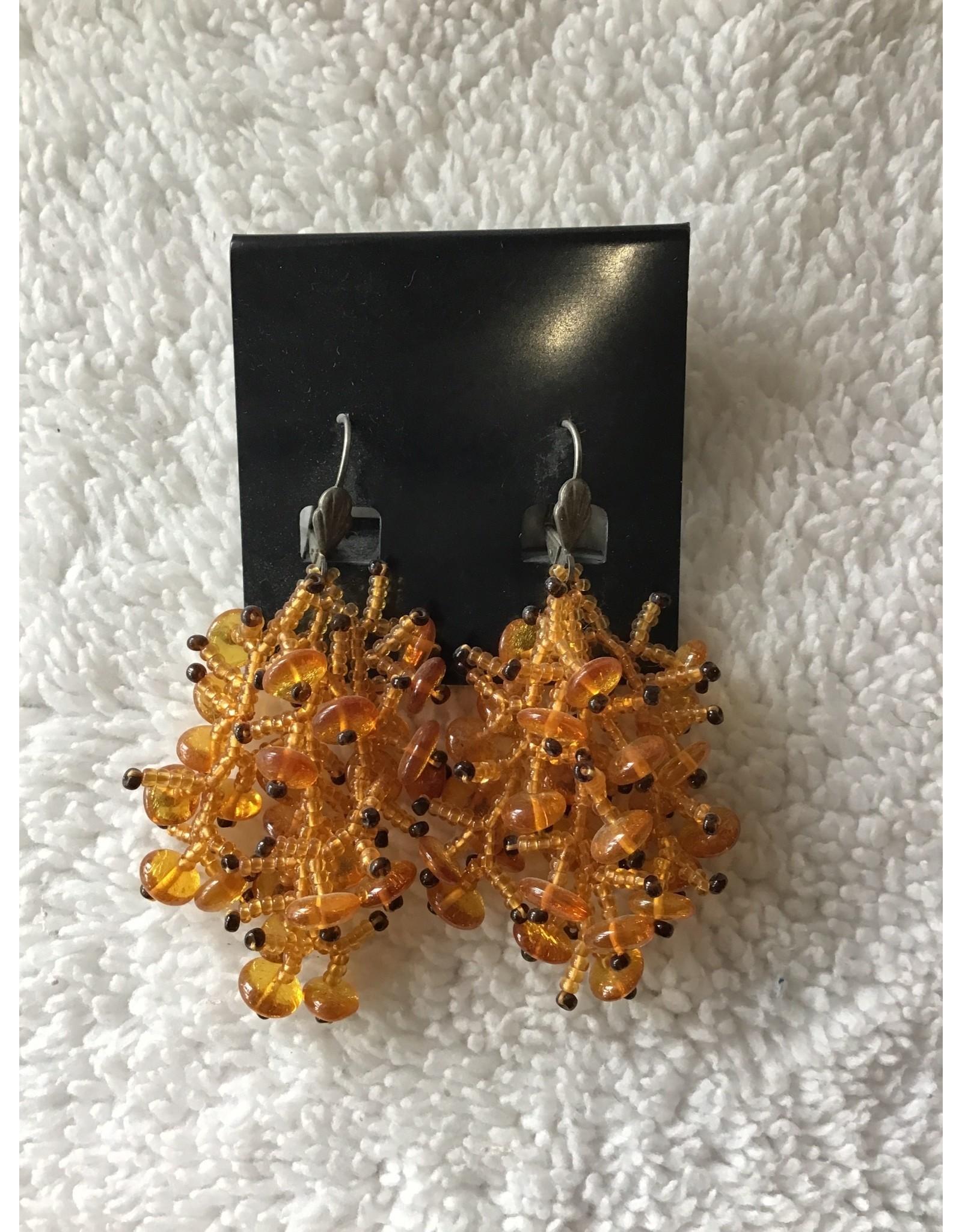 Amber Beaded Earrings