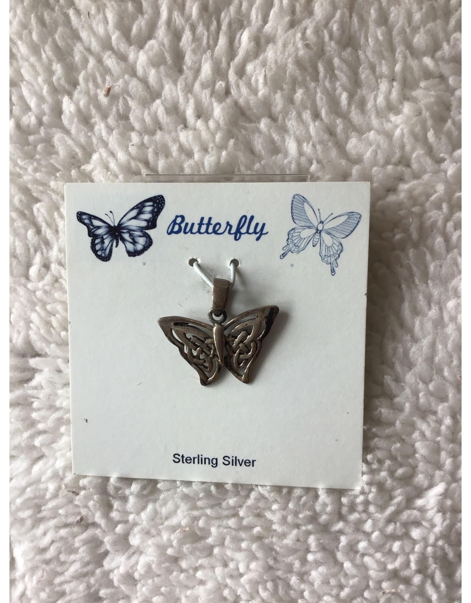 Butterfly Silver Pendant Sm