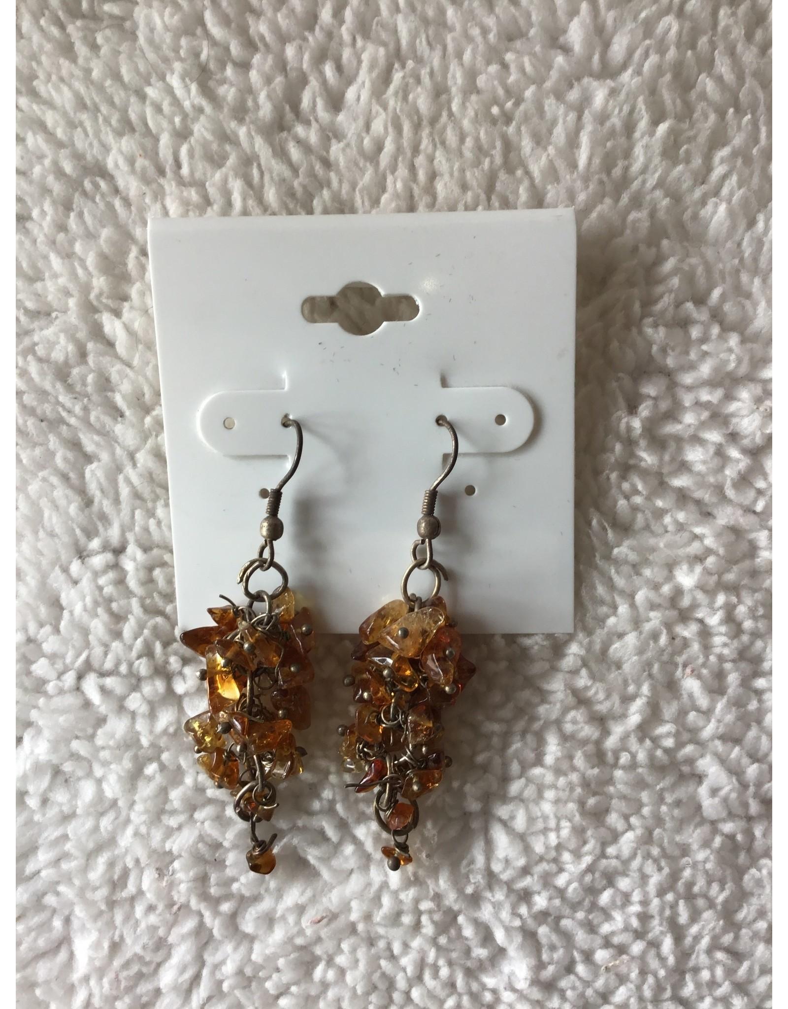Citrine Cluster Earrings