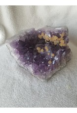 Amethyst Wedge Cluster w/ Calcite Inclustions
