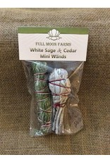 Full Moons Farms Mini Wands   White Sage & Cedar