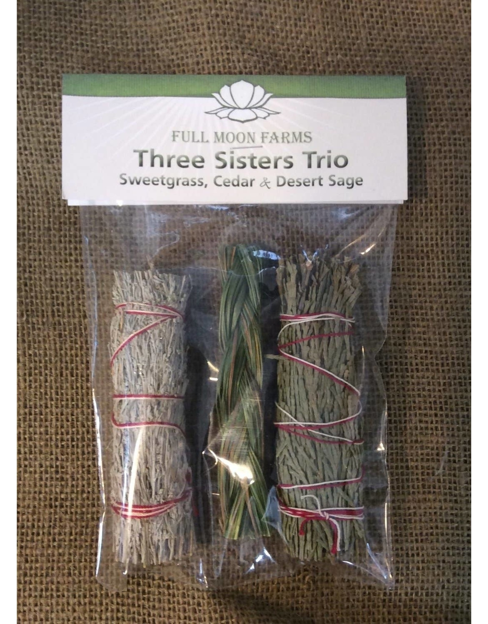 Full Moons Farms Three Sisters Trio   Sweetgrass, Cedar & Desert Sage