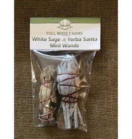 Full Moons Farms Mini Wands   White Sage & Yerba Santa