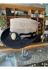 Antoinette Banded Hat, Black & Ivory - Medium