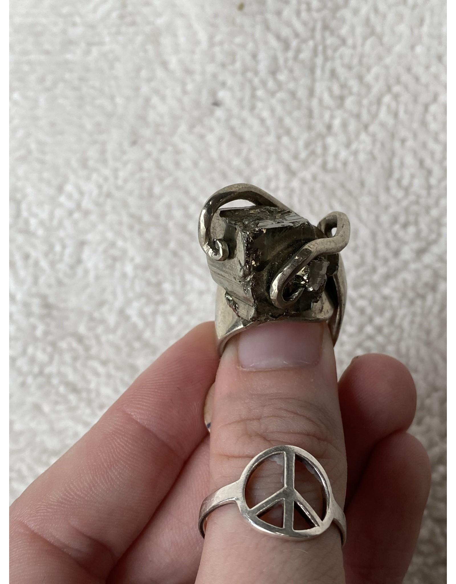 Pyrite Handmade Ring - Sz. 5
