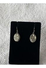 Pyrite Oval Earrings