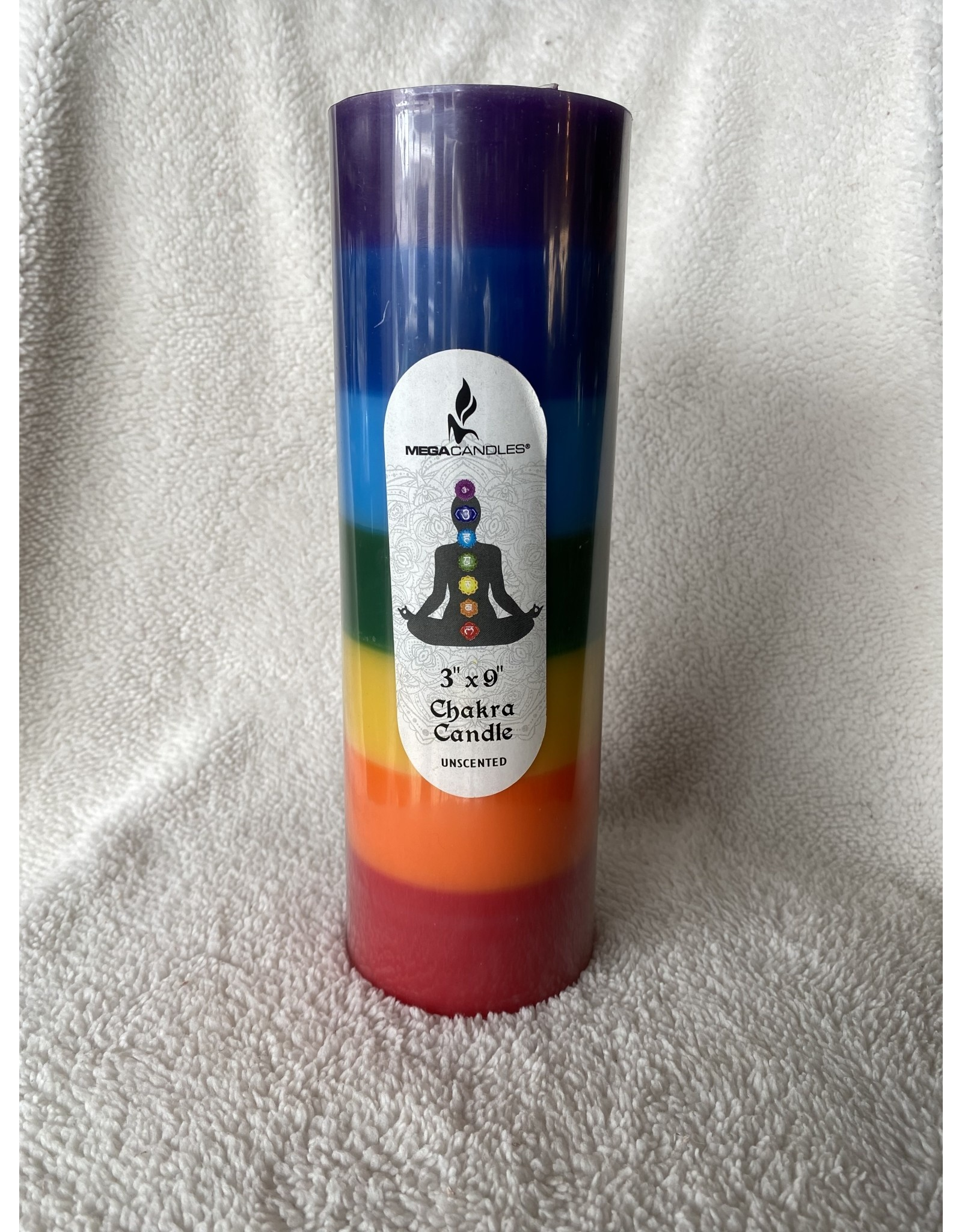 Chakra Balancing Pillar Candle | Unscented