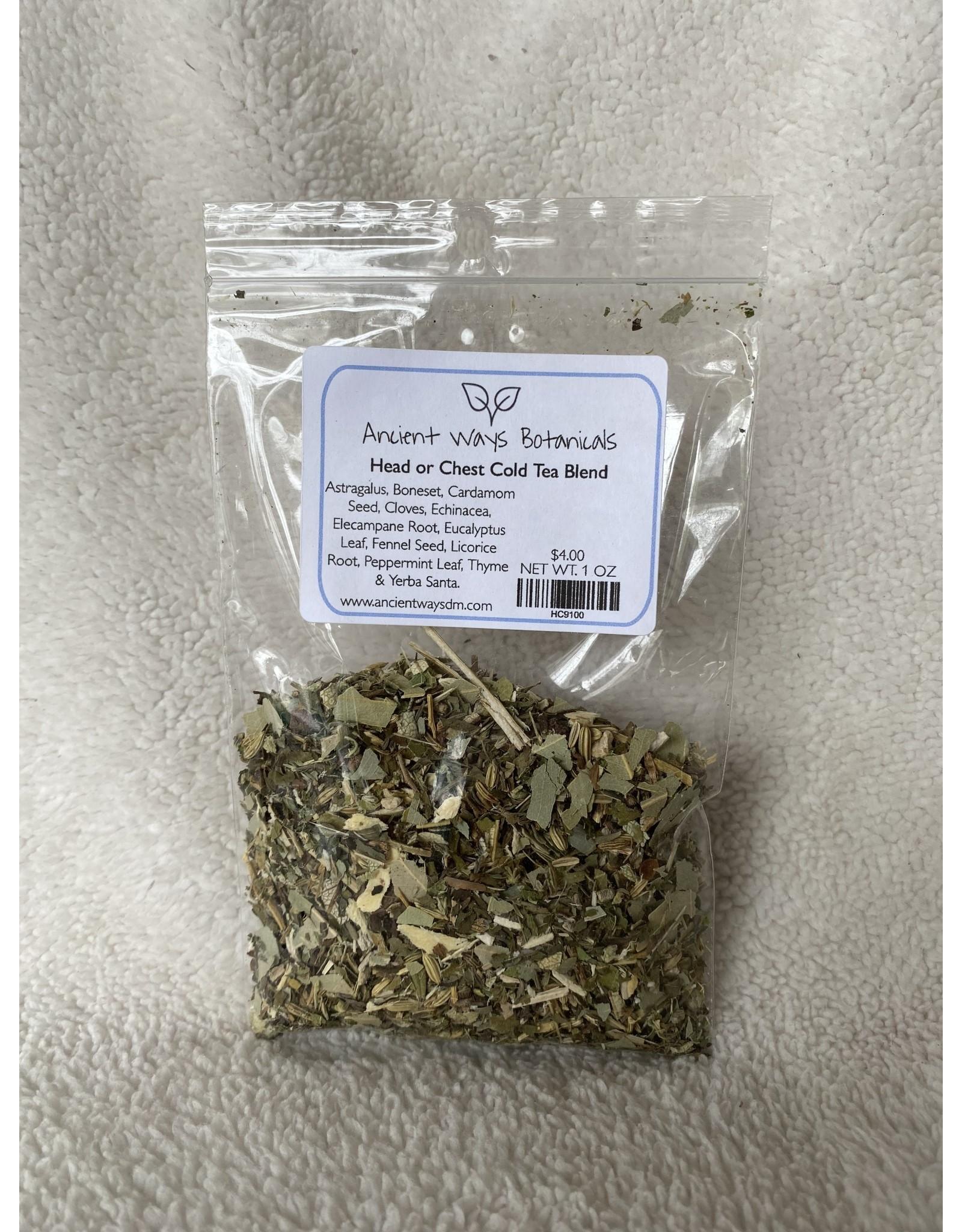 Head or Chest Cold Tea Blend - 1 oz.
