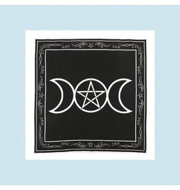 Triple Moon Altar Cloth | Black