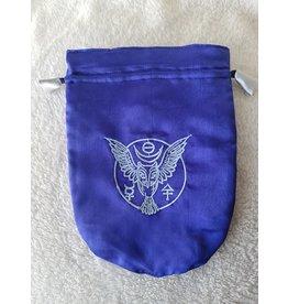 Satin Bag | Owl | Blue