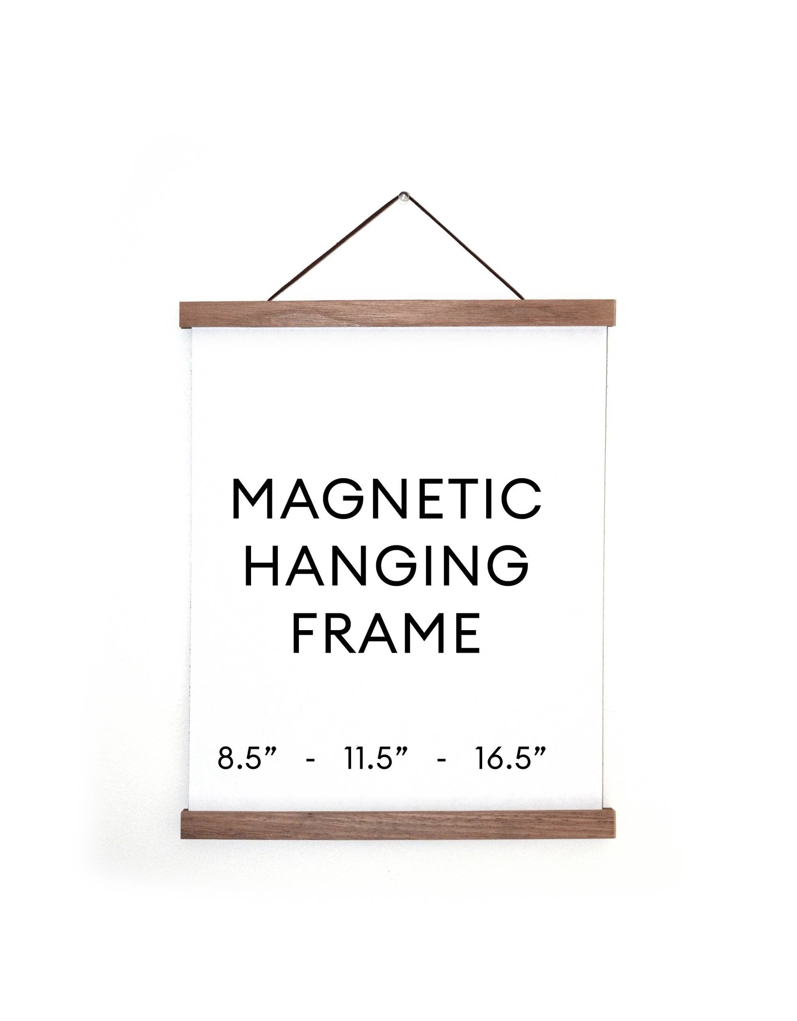 """Curious Prints Magnetic Wood Hanging Print Frame 