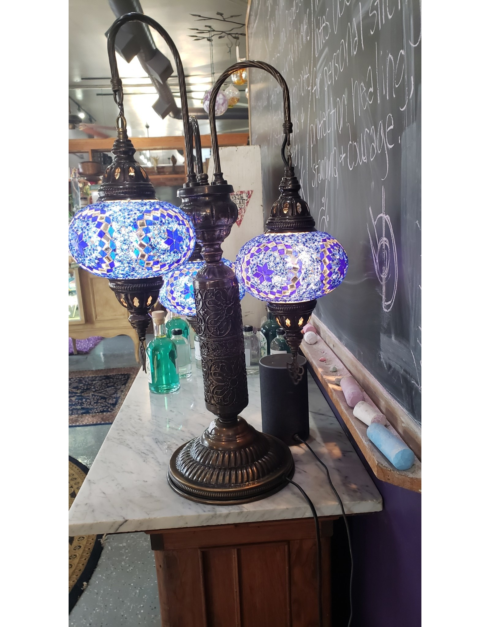 3 Shade Mosiac Turkish Lamp