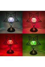 Turkish Mosaic Lamp   5 Point Star   Assorted Color
