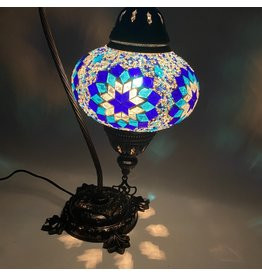 Turkish Mosaic Lamp   Camel Neck   Blue