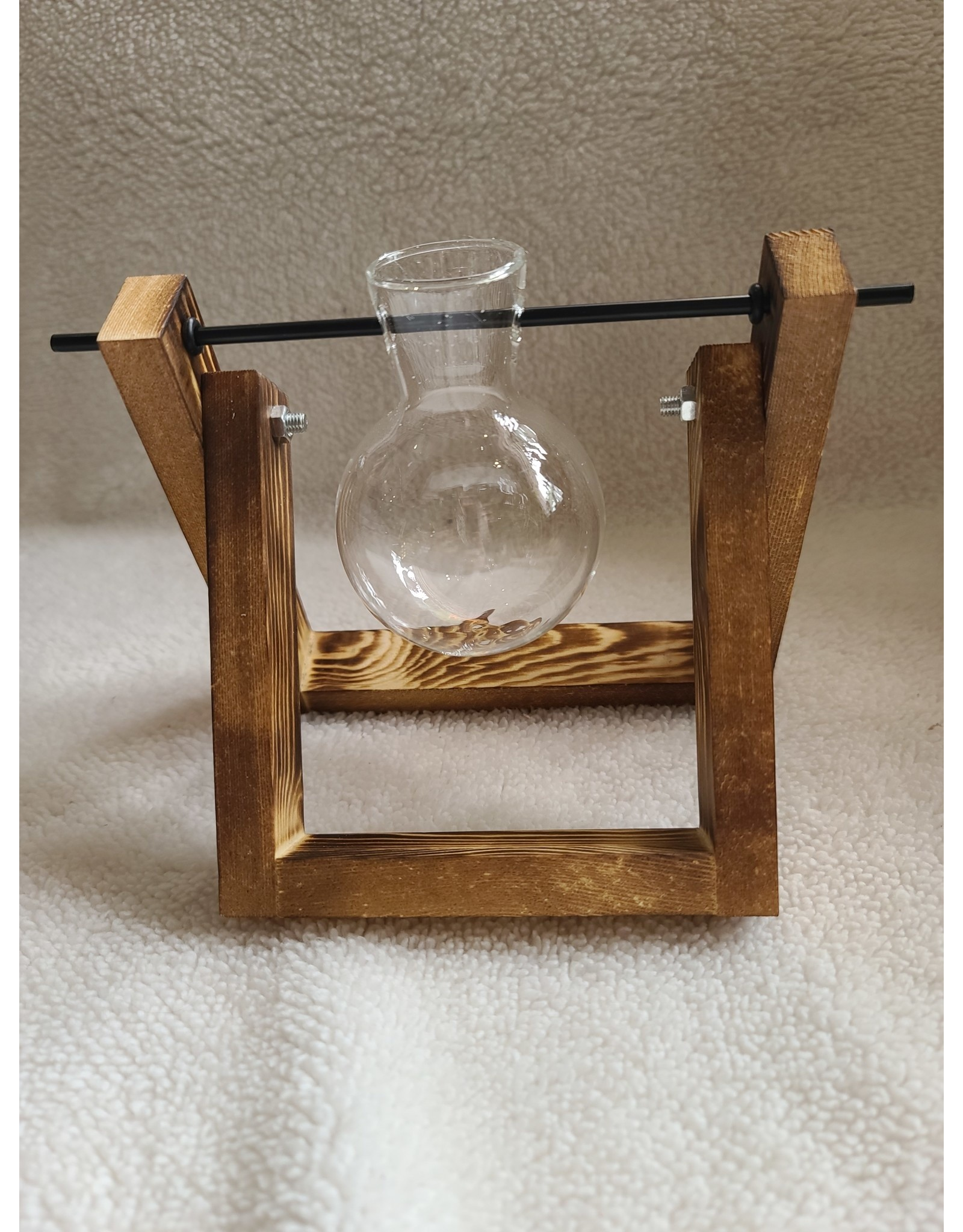 Glass Planter Bulb w/ Wooden Stand | 1 Bulb