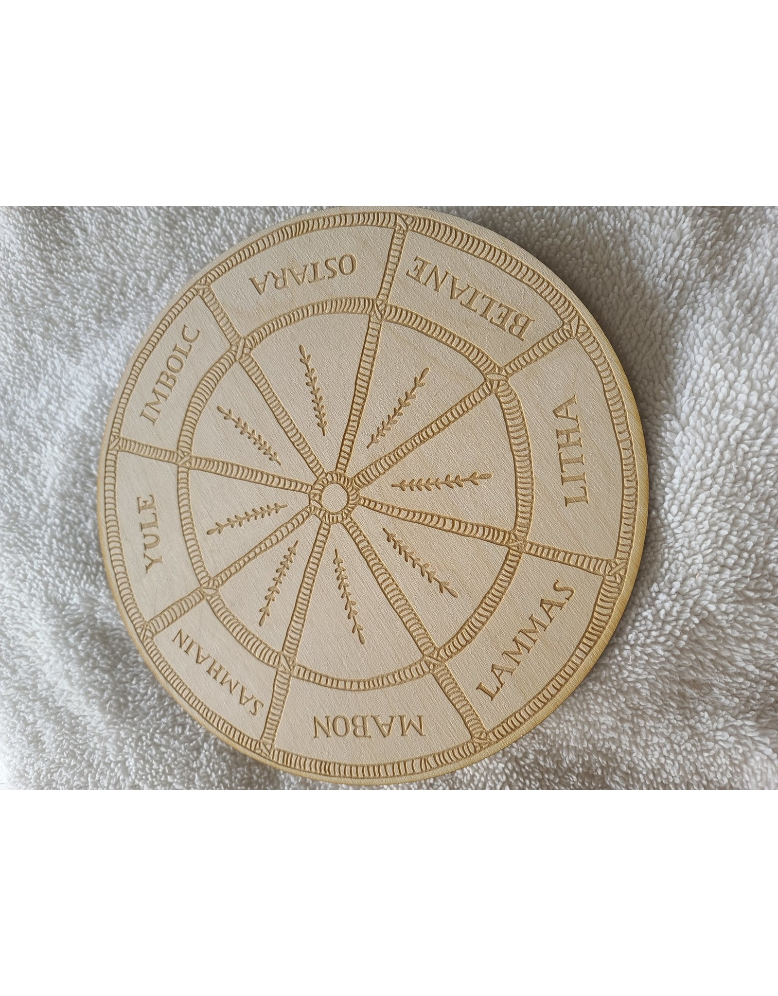 Zen and Meow Wooden Crystal Grid   Wheel of the Year