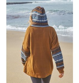Intarsia Knit Hoodie | Brown | S/M