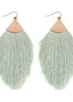 MYS Mint Tassel Earrings