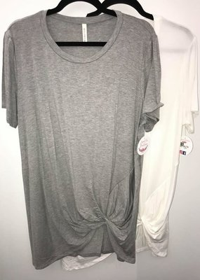Bellamie Basic Gray Tee with Knot
