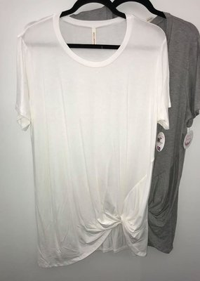 Bellamie Basic White Tee with Knot
