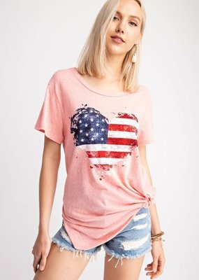 143  Story Heart Flag Graphic Tee