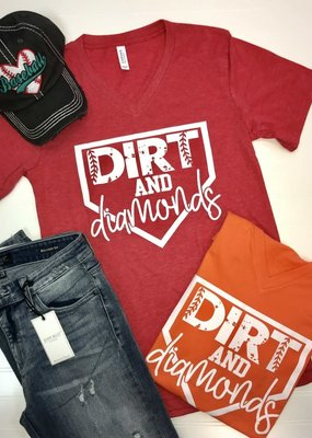 Glittering South Dirt and Diamonds Orange Tee
