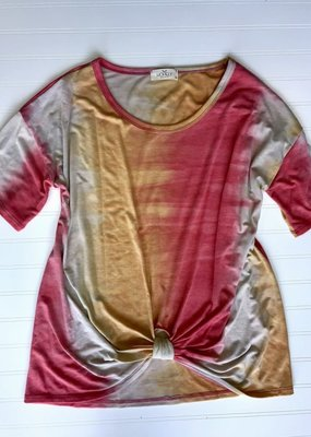 Cezanne Sunset Top with Front Knot