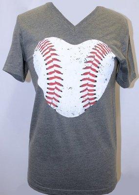 Plain Tee Apparel Baseball V-Neck Tee
