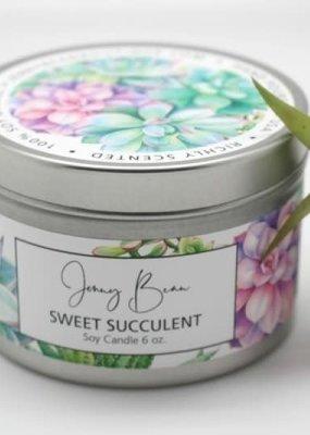 Jenny Bean Sweet Succulent Jar Candle