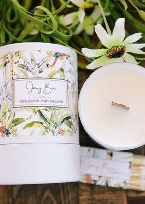 Jenny Bean Botanical Gardens Wood Wick Candle