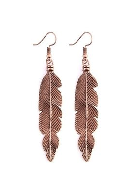 MYS Copper Feather Earrings