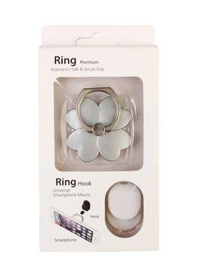 MYS Silver Flower Phone Ring Holder