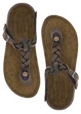 Outwoods Brown Braided Sandal