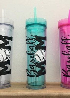Mommas Gone Vinyl Baseball Mom Tumbler